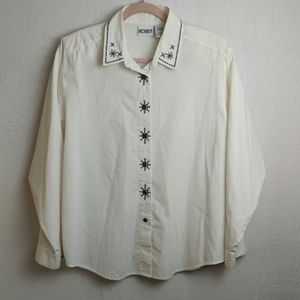 Koret size large white button-down blouse